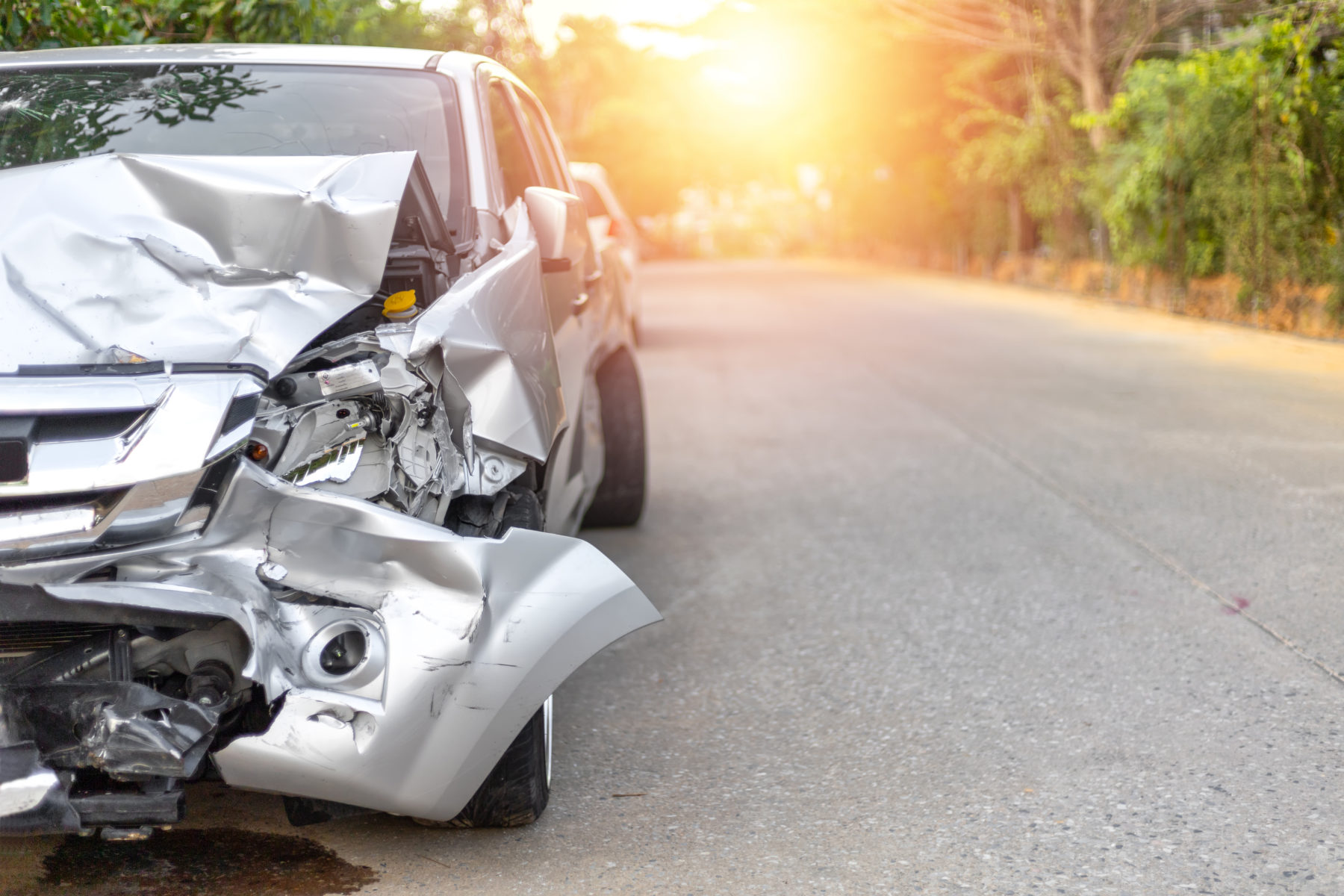 Car accident damage in Antioch, Tennessee