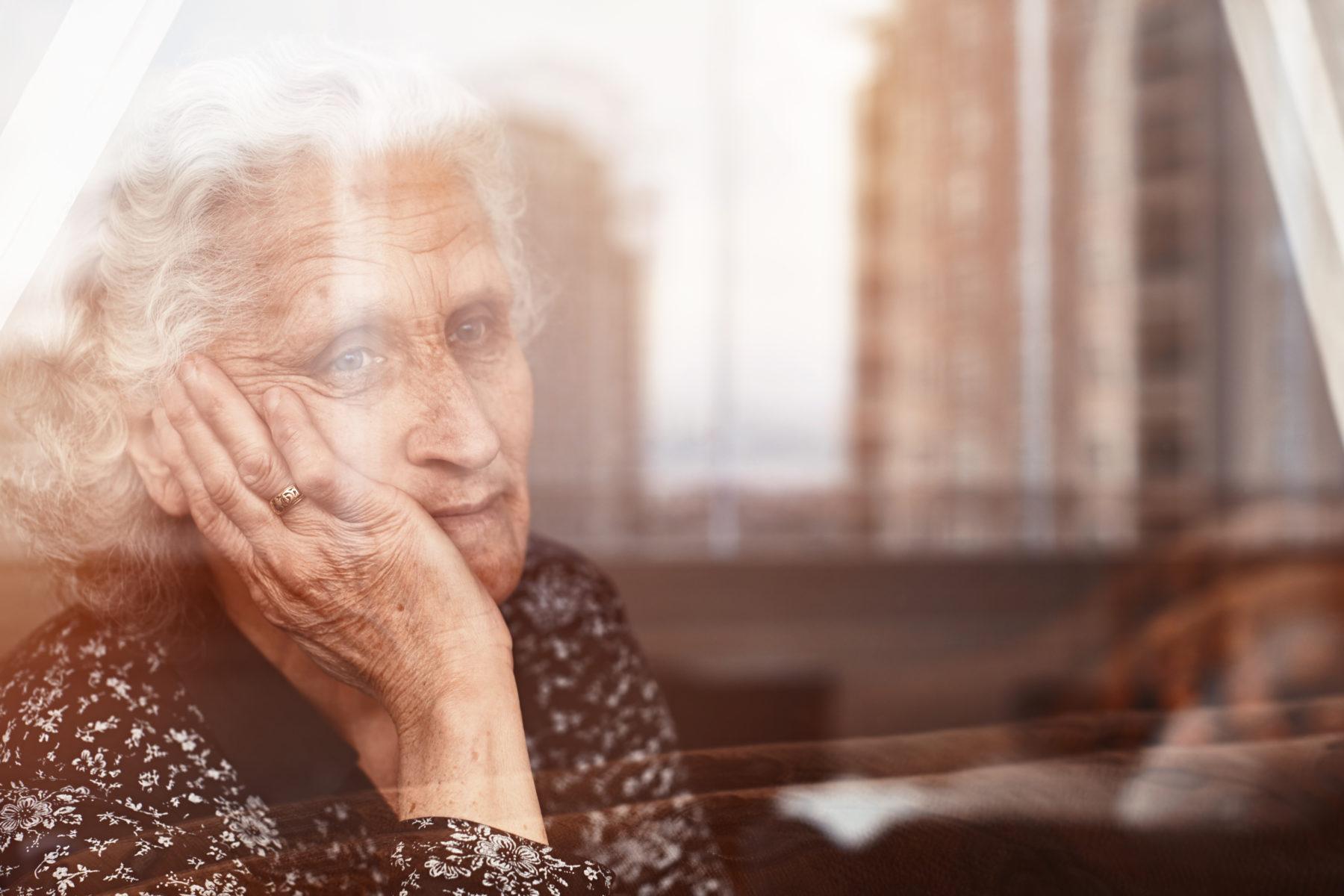 senior woman suffering from nursing home abuse in Nashville, TN