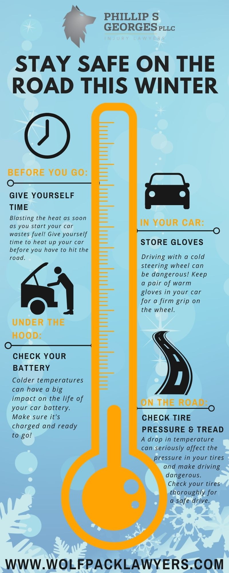 Nashville winter driving tips infographic