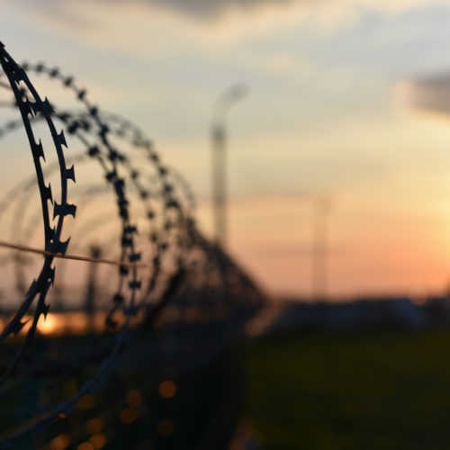 a prison fence in Tennessee